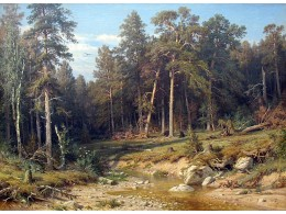 Ivan Shishkin - A Pine Forest. Mast-Timber forest in Viatka Province